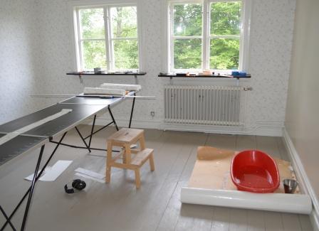 2013_juli_Tapetsering i norra rummet