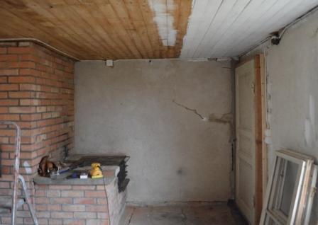 Renovering av bakstugan_tak