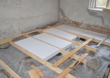 Hur isolera golv friggebod