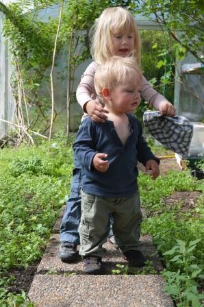 Rensning i växthus med Leija o Anton